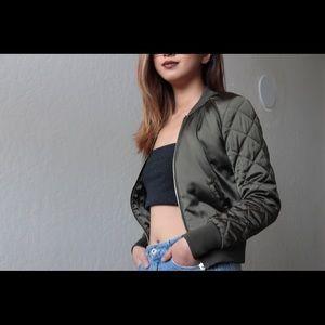 H&M's olive green bomber jacket